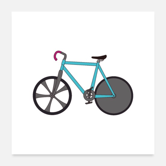 Travel Posters - Biking and having fun - Posters white
