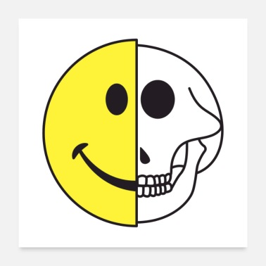 Emotion Smiling Graphic Icon Skull Gift - Poster