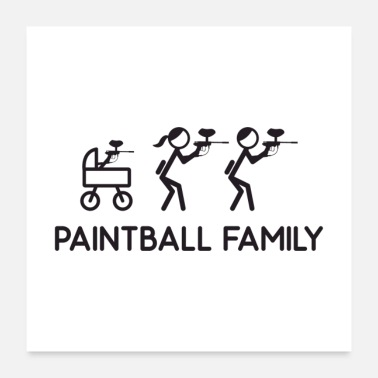 Pistol Paintball Family Gift - Poster
