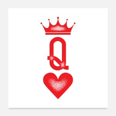 Engagement Queen Couples Tattoo Gift - Poster