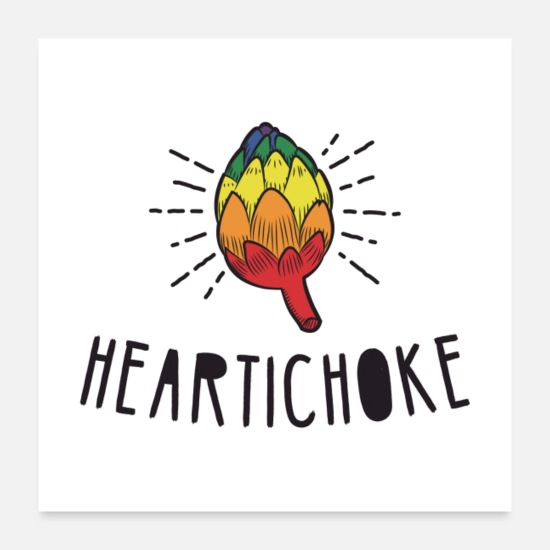 Vegetables Posters - Heartichoke Gift - Posters white