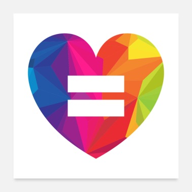 Parade Equality Heart Gift - Poster