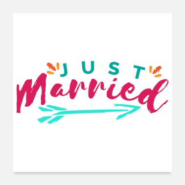 Wedding Just Married Tribal - Gift Idea - Poster