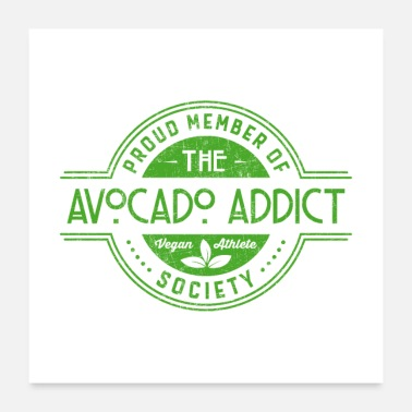 Vegan Kid Vegan Society Avocado Addict Gift - Poster