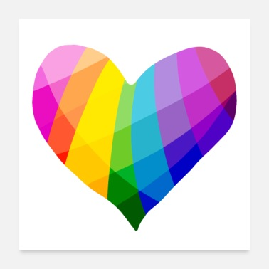 Gay Rainbow Heart - Poster