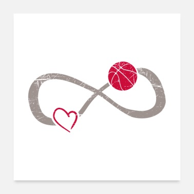 Basketball Infinite Basketball Love Gift - Poster