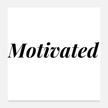 Crossfit Motivated design (black) - Poster