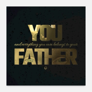Islamic Islamic Quote For Father's Day Poster - Poster