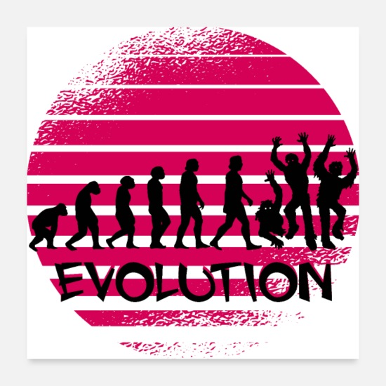 Zombie Apocalypse Posters - People Zombie Evolution T-Shirt - Posters white