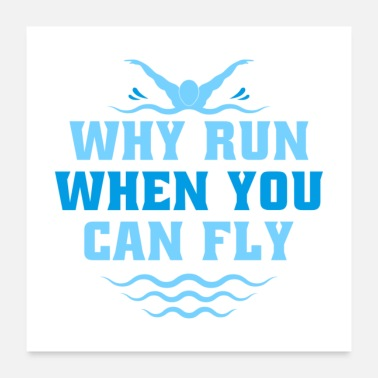 Freestyle Why Run When You Can Fly I Gift - Poster