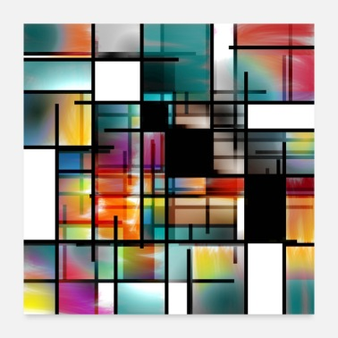 Background Modern Art Abstract - Poster
