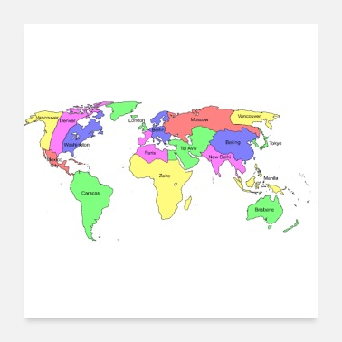 World Map New world map - Poster