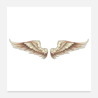 Motorbiker Classic motorcycle wings - Poster
