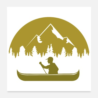 New Year Canoe Canoeing at the lake and in the mountains - Poster
