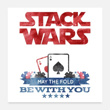 Holdem Poker Wars - May the fold be with you - Poster
