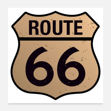 Old School Route 66 - Poster