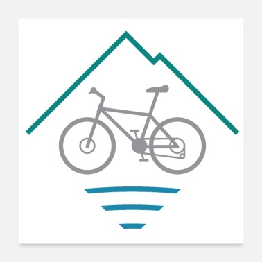 Illustration Outdoor Mountain Bike Logo - Poster