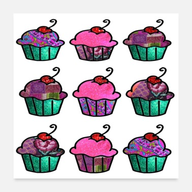 Cupcake Sweet and Pink - Poster