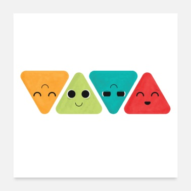 Colorful Colorado Creative Cute Happy Geometric Triangle - Poster