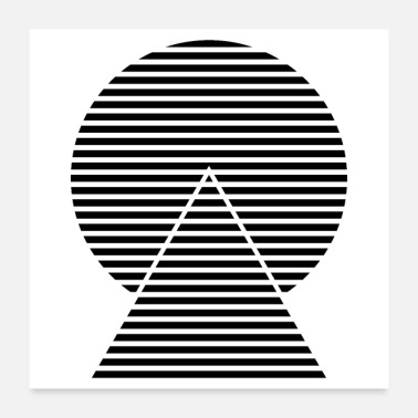Stripes striped triangle circle - Poster