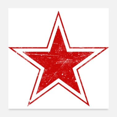 Airforce Soviet USSR CCCP Russian Roundel Star Flag - Poster