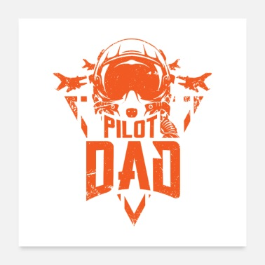 Cockpit Pilot Dad Aviation Father Gift - Poster