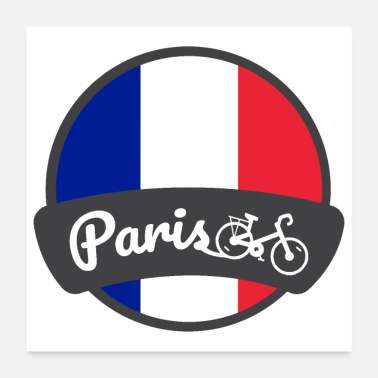 Birthday Girl Bike Paris France Bike City - Gift Idea - Poster