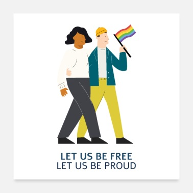 Text LET US BE FREE LET US BE PROUD - Poster