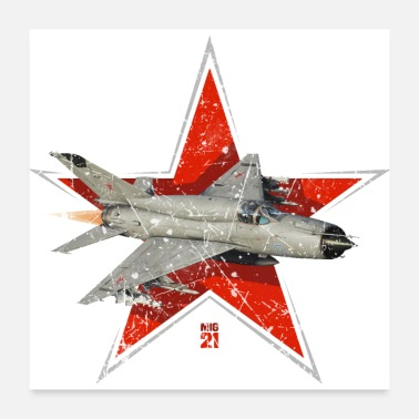 Russian MIG 21 Air Force Vintage - Poster