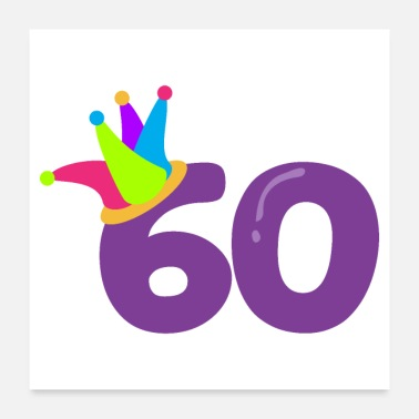 Birth Birthday 60 Party Hat 60th Birthday - Gift Idea - Poster