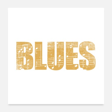 Band Without Blues Life Would B Flat Gift - Poster