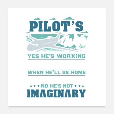 Traffic Pilot's Wife Yes We're Still Married Gift - Poster