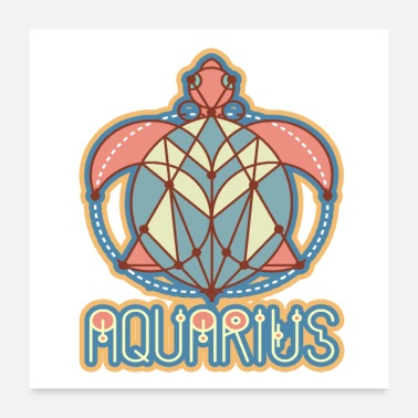 Astrology Aquarius Astrology Birth Sign - Poster