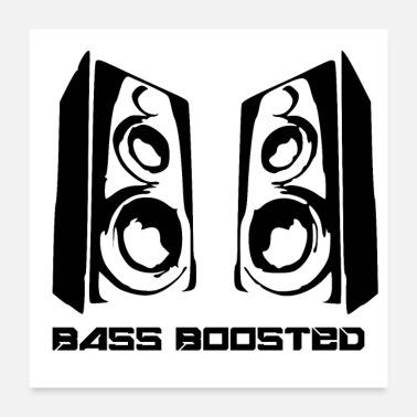 Large Bass Boost Large Speakers Music Design Unisex Tee - Poster