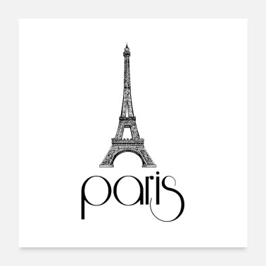 Paris Vintage Eiffel Tower Paris - Poster
