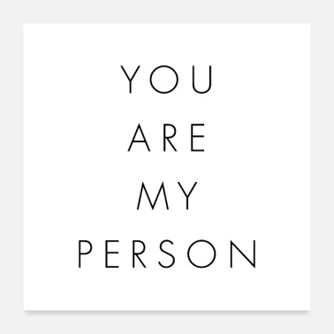 Personalized You Are My Person - Poster