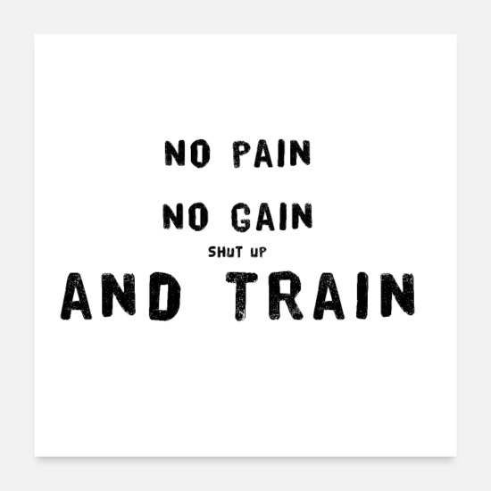 Motivational Posters - No pain, no gain - Posters white