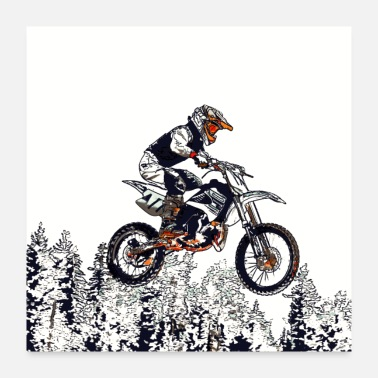 Bike Flying High - Motocross Racer - Poster