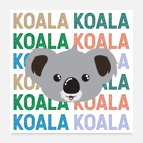 Kangaroo Posters - Australia Koala Bear Animal Lover Gift Idea - Posters white