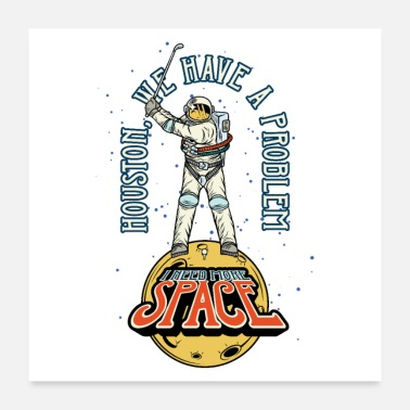 Funny Golf Sport Spaceman Kosmos Astronaut Golf Champion - Poster