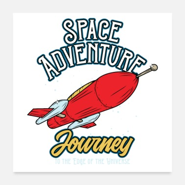 Rocketship Outer Space Adventure Rocket Journey - Poster
