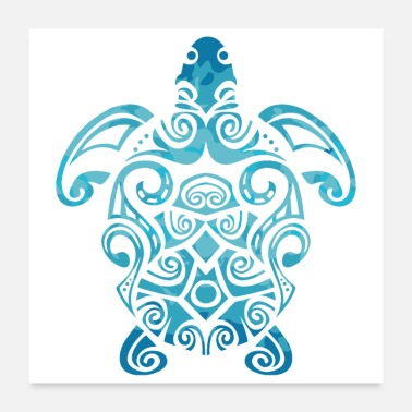 Sea Maori Turtle Honu Art Tribal Tattoo Gift Idea - Poster