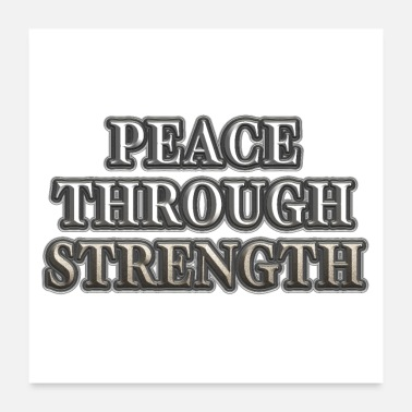 Government Peace Through Strength - Poster