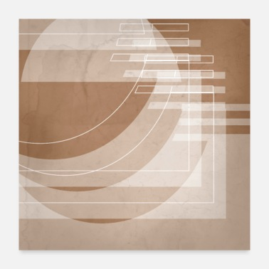 Shade Stairs Heavenward in Shades of Cinnamon - Poster