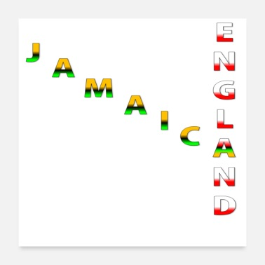 England Jamican and England - Poster