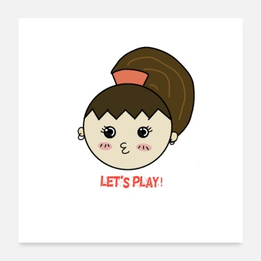 Playground Let's play cute little baby girl - Poster