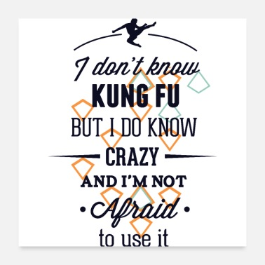 Crazy Eights Kung Fu crazy - Poster