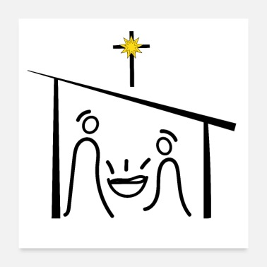 Birth Jesus Birth, nativity scene, Christmas - Poster