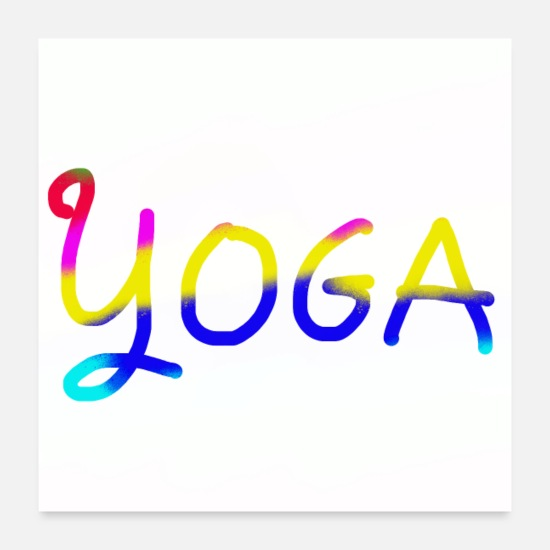 Therapy Posters - Yoga Peace - Posters white