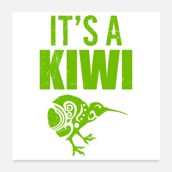 Kiwi Posters - Maori It's a Kiwi Tribal Tattoo Gift Idea - Posters white
